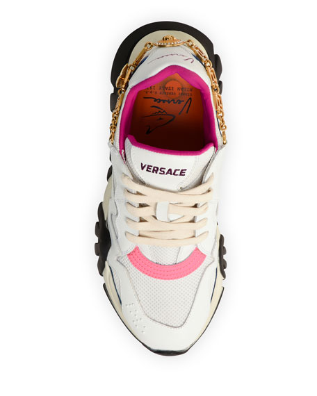 Versace Squalo Sneakers with Removable Charm