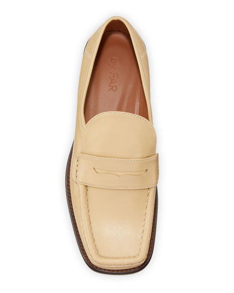 Image 3 of 4: BY FAR Britney Leather Loafers
