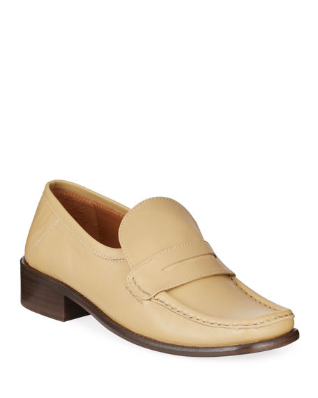 Image 1 of 4: BY FAR Britney Leather Loafers