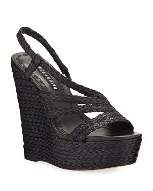 635829eb82c Women's Espadrille Wedges, Flats & More at Neiman Marcus