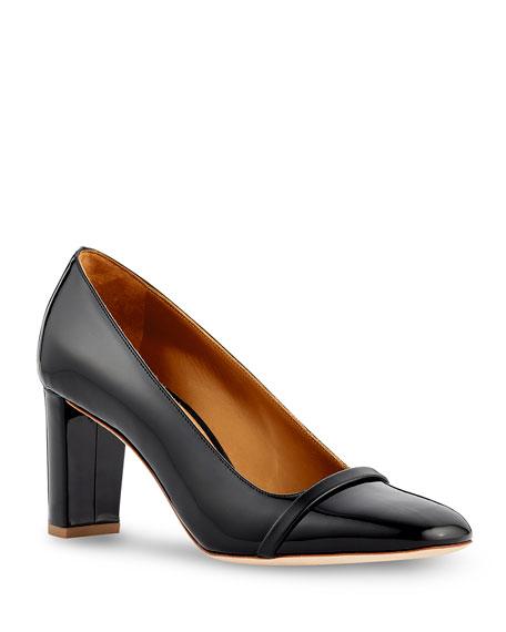 Malone Souliers Lorena Patent Leather Block-Heel Pumps