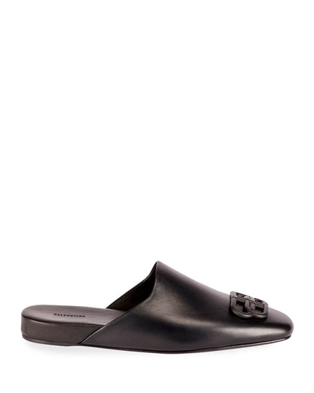 Balenciaga Cosy BB Flat Carrera Leather Mules