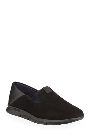 Cole Haan Grand Horizon Mixed Leather Slip-On Loafers
