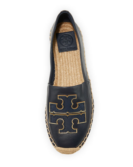 Image 3 of 3: Tory Burch Ines Flat Leather Logo Espadrilles