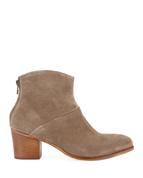 Italeau Daniela Waterproof Suede Ankle Booties
