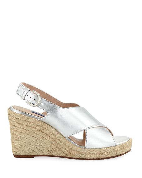 afc097e8d41 Paris Metallic Espadrille Wedge Sandals