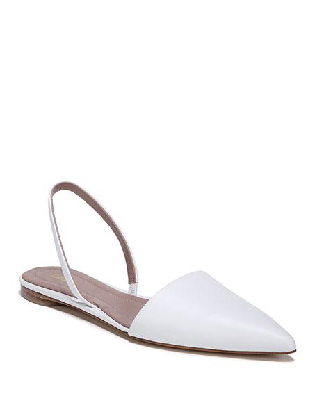 Diane von Furstenberg Koko Slingback Ballet Flats, White