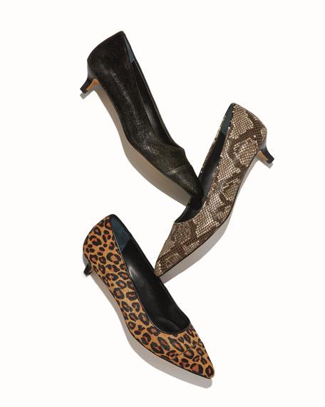 Donald J Pliner Ibiz Cheetah-Print Kitten Heel Pumps