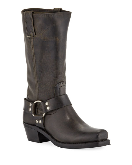 Frye Harness 8R Leather Knee Boots