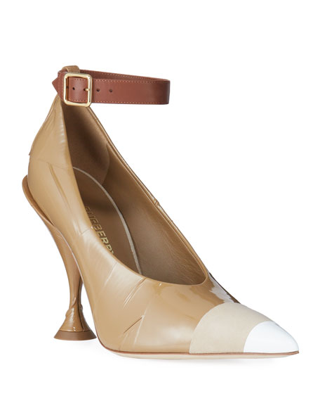 Burberry Evan Patent Pointed Pumps