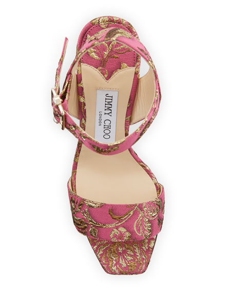 Image 3 of 3: Jimmy Choo Maie Brocade Platform Sandals