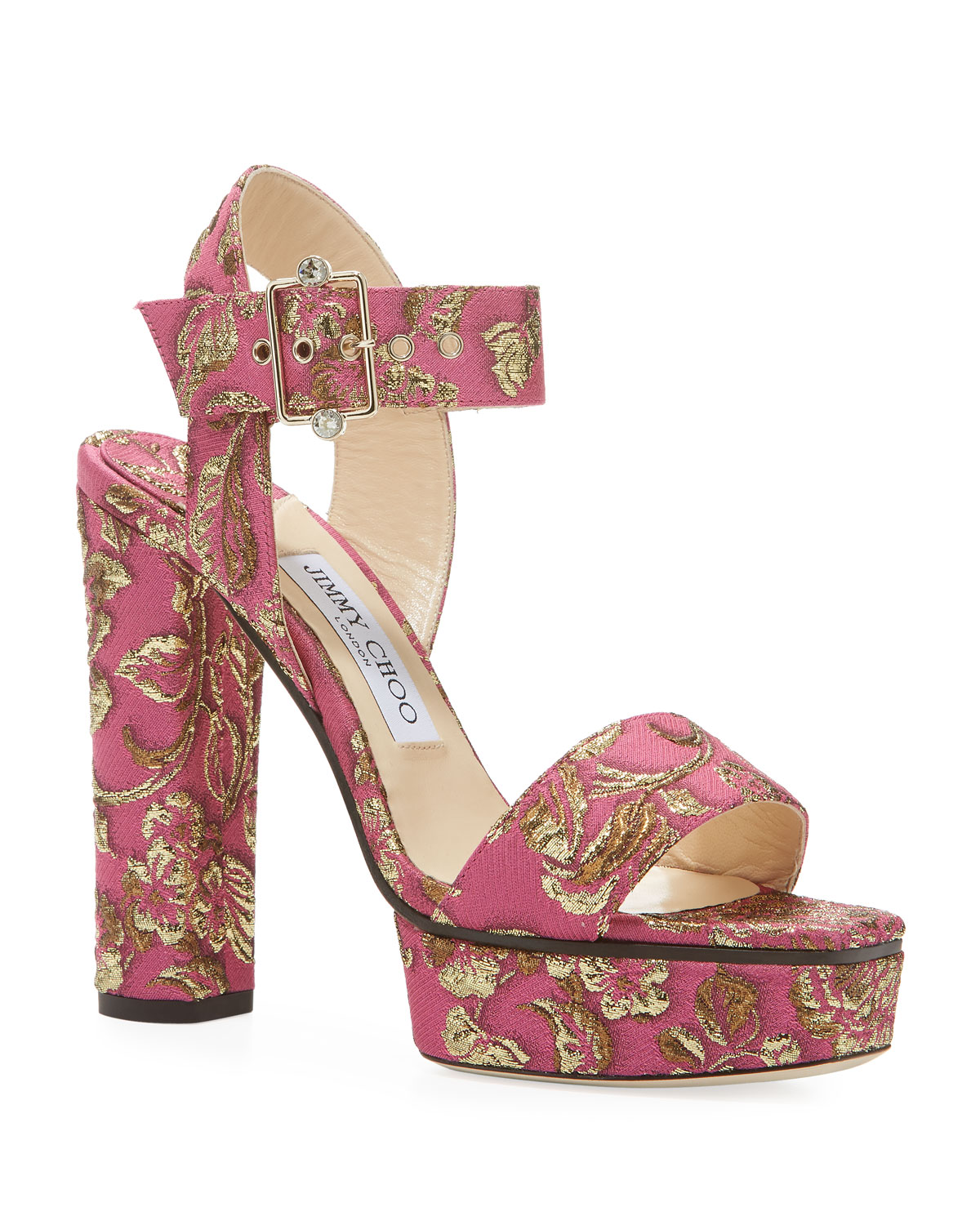 Jimmy Choo Maie Brocade Platform Sandals