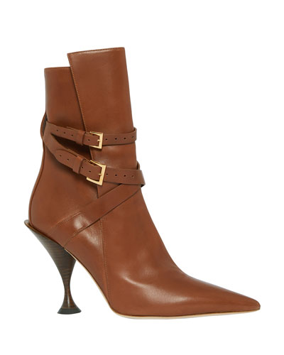 Hadfield Pedestal-Heel Leather Boots