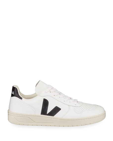 Image 3 of 5: V 10 Low-Top Leather Tennis Sneakers