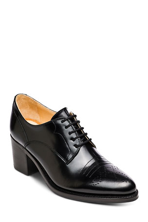 The Office of Angela Scott Miss Button Heeled Loafers