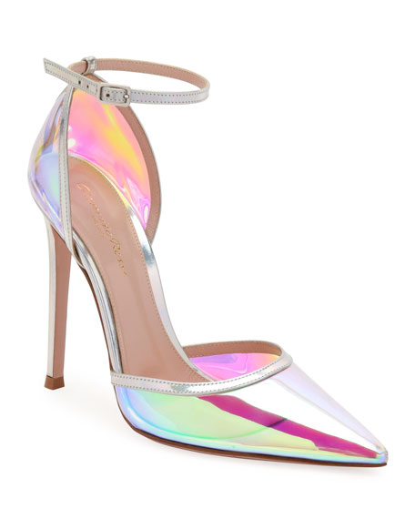Gianvito Rossi Hologram Pointed Ankle Pumps
