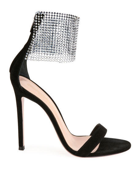 Image 2 of 4: Gianvito Rossi High Sandals with Crystal Cuff