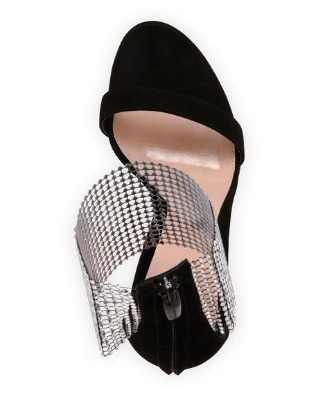 Image 4 of 4: Gianvito Rossi High Sandals with Crystal Cuff