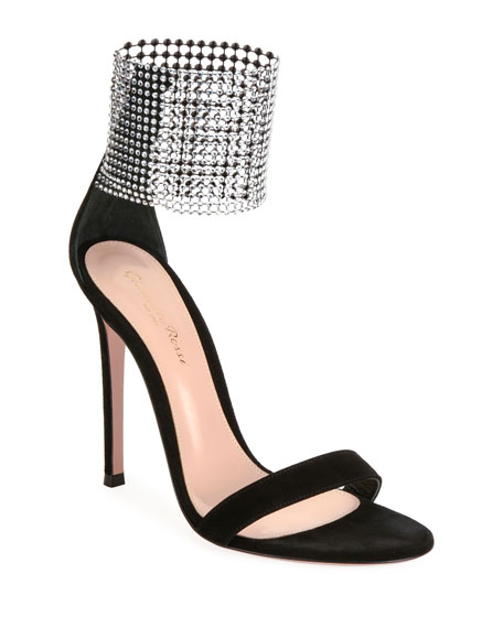 Image 1 of 4: Gianvito Rossi High Sandals with Crystal Cuff