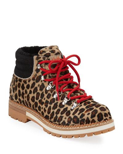 Marlena Leopard Calf Hair Boots