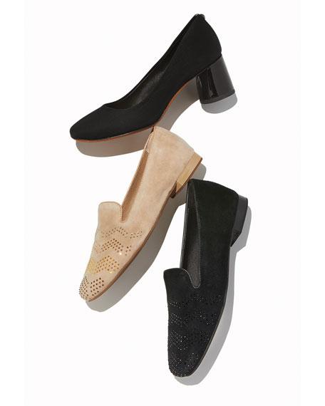 Donald J Pliner Camy Mid-Heel Crepe Comfort Pumps