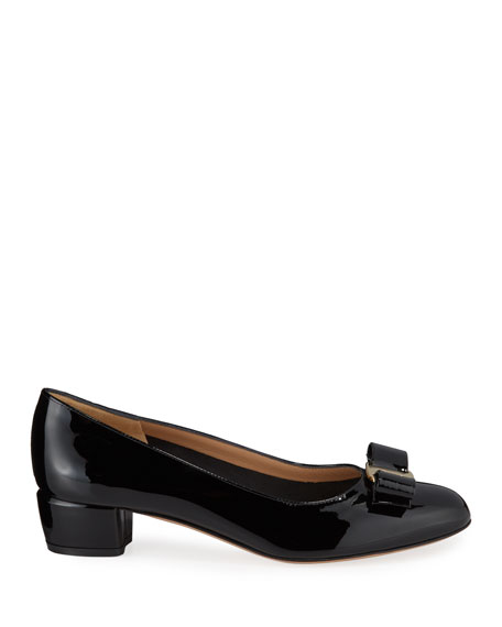 Image 2 of 4: Salvatore Ferragamo Vara Icon Leather Bow Pumps