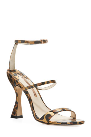 Sophia Webster Rosalind Hourglass Leopard Sandals