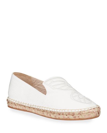 Sophia Webster Butterfly Leather Espadrille Flats