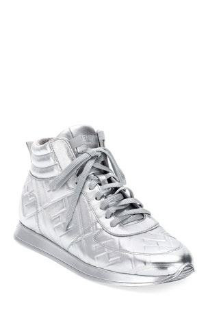 Fendi FFreedom Metallic High-Top Sneakers