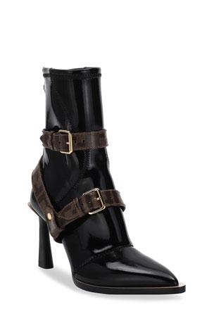 Fendi Neoprene Booties with FF Harness