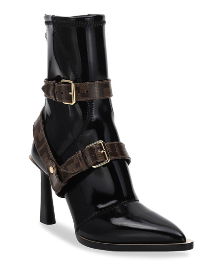Neoprene Booties With Ff Harness by Fendi