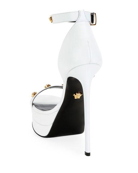 Versace Tribute Platform Leather Sandals