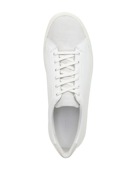 Image 4 of 5: Vince Janna Mixed Leather Low-Top Sneakers