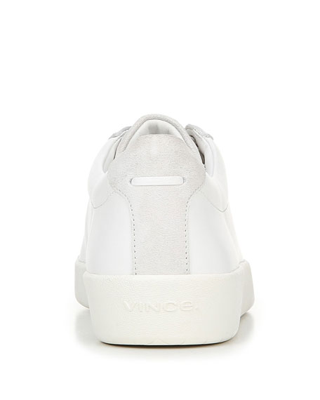 Image 5 of 5: Vince Janna Mixed Leather Low-Top Sneakers