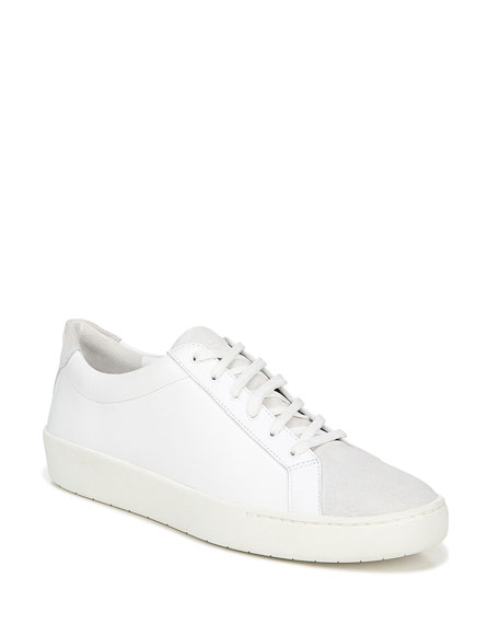 Image 1 of 5: Vince Janna Mixed Leather Low-Top Sneakers