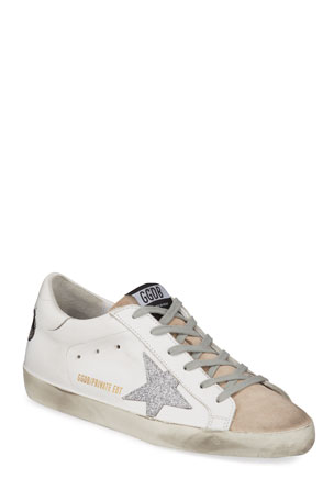 Golden Goose Superstar Bow Lace-Up Sneakers $600.00