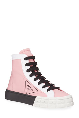 Prada High-Top Logo Chunky Sneakers