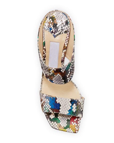 Jimmy Choo Hira Rainbow Slide Sandals