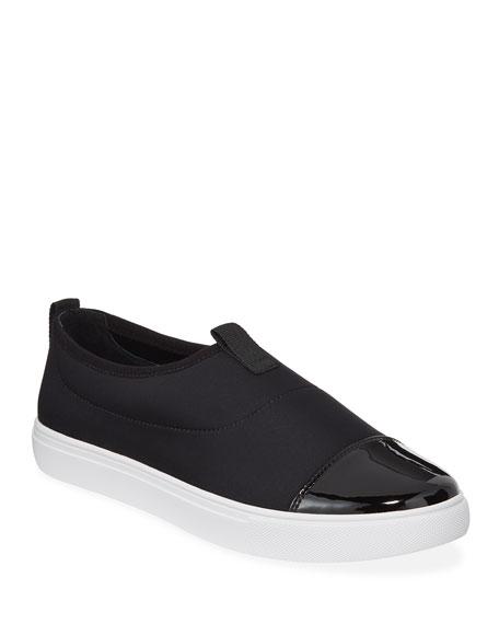 Donald J Pliner Sneakers Syla Cap-Toe Crepe Sneakers