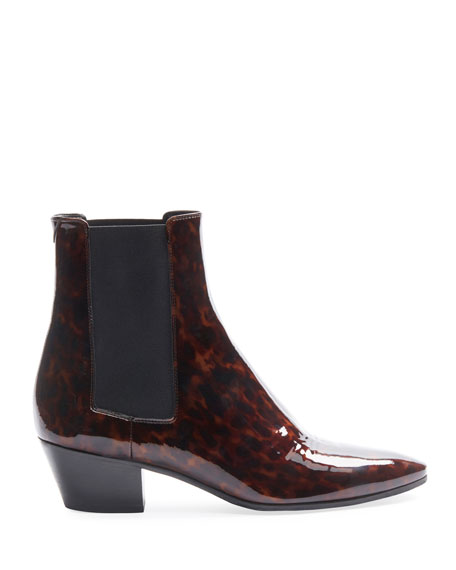 Saint Laurent West 45mm Tortoise Chelsea Booties