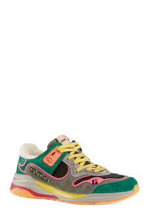 Gucci G Line Suede Sneakers