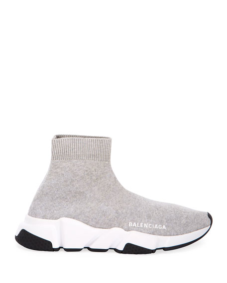 Image 2 of 4: Balenciaga Stretch-Knit High-Top Sock Trainer