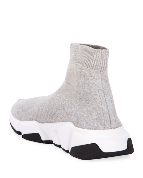 Image 4 of 4: Balenciaga Stretch-Knit High-Top Sock Trainer