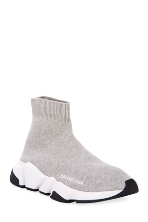 White BB Speed Trainers by Balenciaga Kids SVMoscow