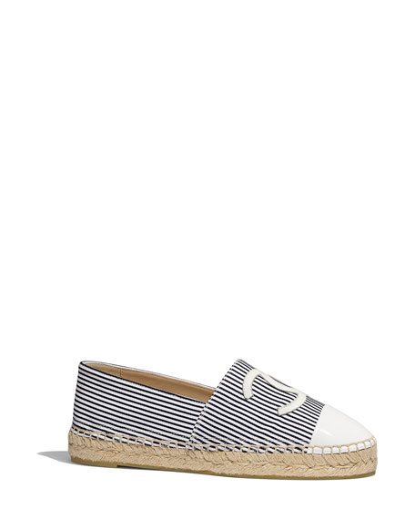 CHANEL S20 FLAT STRIPED ESPADRILLE WHOLE SIZES ONLY