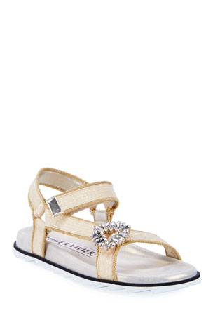 Roger Vivier Mini RV Broche Slidy Espadrilles