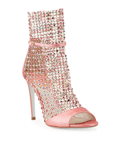 Galaxia Mesh Crystal Snake Caged Sandals