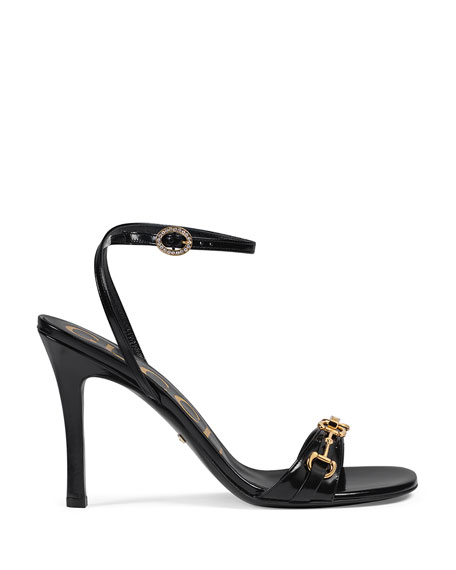 Image 2 of 4: Gucci Moorea Leather Sandals With Horsebit
