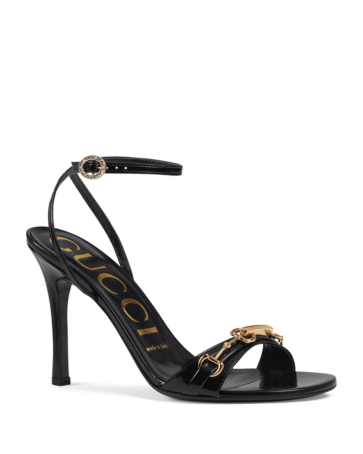 Gucci Moorea Leather Sandals With Horsebit