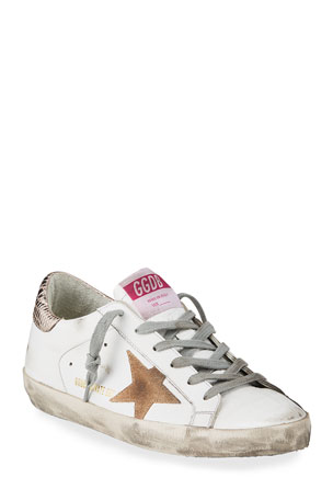 Golden Goose Superstar Mixed Leather Low-Top Sneakers